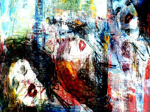 Lee Eggstein, Dreaming, Menschen: Frau, Gefühle, Abstrakter Expressionismus