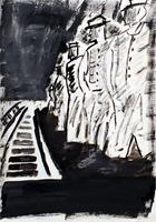 Lee-Eggstein-Menschen-Gruppe-Abstraktes-Moderne-Expressionismus-Abstrakter-Expressionismus