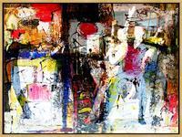 Lee-Eggstein-Menschen-Paare-Abstraktes-Moderne-expressiver-Realismus