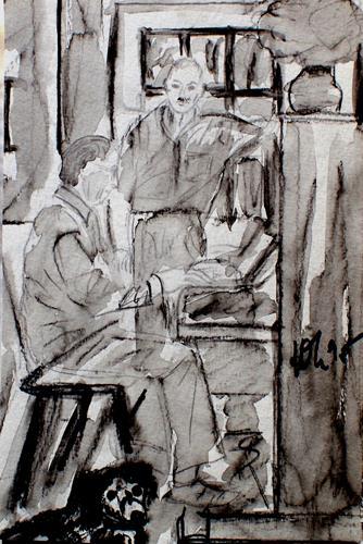 Lee Eggstein, am Klavier, Menschen, Musik, Gegenwartskunst, Expressionismus