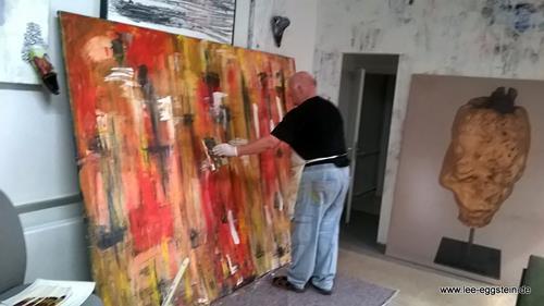 Lee Eggstein, abstrakte Malerei, Abstraktes, Abstraktes, Action Painting