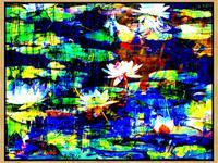 Lee-Eggstein-Pflanzen-Blumen-Natur-Wasser-Moderne-Abstrakte-Kunst