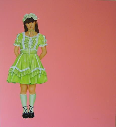 Alexander Smith, Lolita nr. 02, Menschen: Porträt, Menschen: Frau, Neue Figurative Malerei, Abstrakter Expressionismus