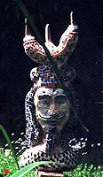 H. Salomon-Schneider, Indianer - Rückseite Affenkopf