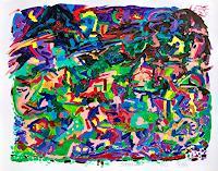 Hans-Salomon-Schneider-Abstraktes-Landschaft-Berge-Moderne-Expressionismus-Abstrakter-Expressionismus
