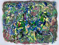 Hans-Salomon-Schneider-Bewegung-Tiere-Land-Moderne-Abstrakte-Kunst-Tachismus