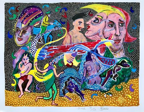 Hans Salomon-Schneider, Durst, Diverse Menschen, Gegenwartskunst
