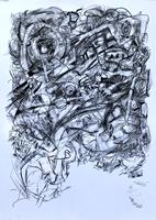 Hans-Salomon-Schneider-Abstraktes-Moderne-Abstrakte-Kunst-Action-Painting