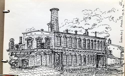 Hans Salomon-Schneider, Alte Metallbaufirma, Architektur, Gegenwartskunst