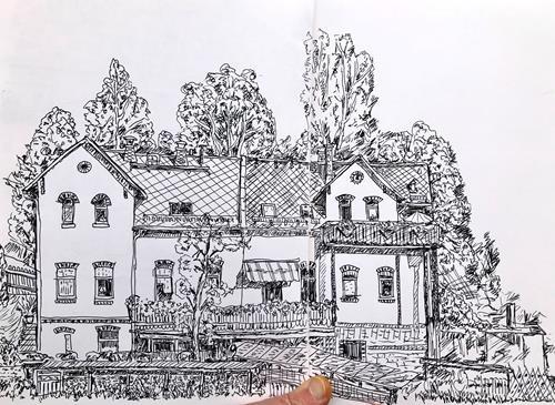 Hans Salomon-Schneider, Älteres Mehrfamilienhaus., Architektur, Gegenwartskunst