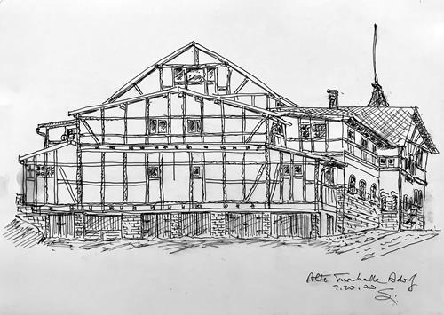 Hans Salomon-Schneider, Alte Turnhalle., Architektur, Gegenwartskunst
