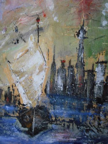 Acryl-Power, Skyline Hongkong, Diverse Bauten, Abstrakter Expressionismus, Expressionismus, Moderne