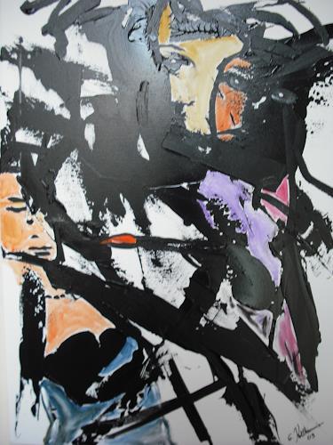 Acryl-Power, Der Maler und sein Modell, Abstraktes, Menschen: Gesichter, Radikale Malerei, Abstrakte Kunst, Moderne