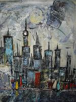 Acryl-Power-Abstraktes-Diverse-Bauten-Moderne-Expressionismus-Abstrakter-Expressionismus