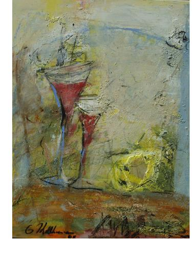 Acryl-Power, Prosit, Abstraktes, Party/Feier, Expressionismus, Moderne