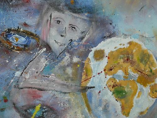 Acryl-Power, Ab zur Erde!! (Bildausschnitt), Geschichte, Menschen: Paare, Abstrakter Expressionismus