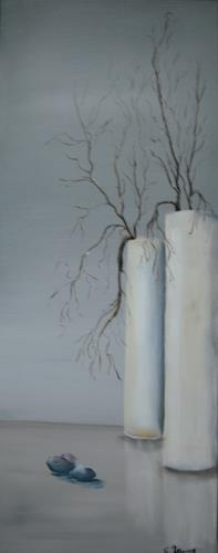 Acryl-Power, Vasen, Dekoratives, Diverse Pflanzen, Gegenwartskunst