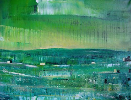 Acryl-Power, In GRÜN, Abstraktes, Landschaft: Ebene, Abstrakter Expressionismus, Expressionismus