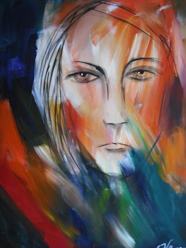 Von acryl power abstraktes menschen gesichter malerei - Einfache acrylbilder ...