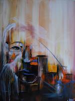 Acryl-Power-Abstraktes-Menschen-Gesichter-Moderne-Abstrakte-Kunst