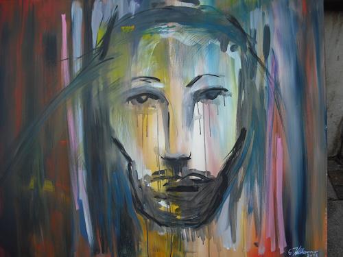 Acryl-Power, LEIDEN......, Abstraktes, Menschen: Gesichter, Gegenwartskunst
