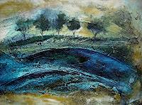 Acryl-Power-Landschaft-Abstraktes-Moderne-Expressionismus-Abstrakter-Expressionismus
