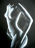 Acryl-Power-Akt-Erotik-Akt-Frau-Menschen-Frau-Moderne-Moderne