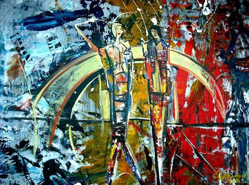 Acryl-Power, ?, Abstraktes, Bewegung, Abstrakter Expressionismus