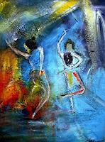 Acryl-Power-Menschen-Gruppe-Bewegung-Moderne-Expressionismus-Abstrakter-Expressionismus