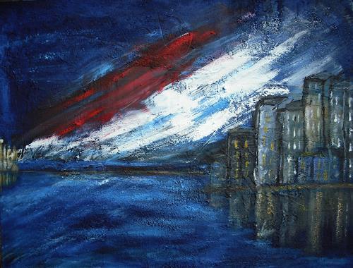 Acryl-Power, IST DIE HÖLLE LOS, Abstraktes, Landschaft: Ebene, Abstrakte Kunst, Abstrakter Expressionismus
