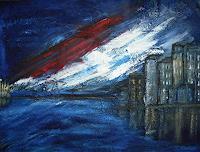 Acryl-Power-Abstraktes-Landschaft-Ebene-Moderne-Abstrakte-Kunst
