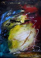 Acryl-Power-Abstraktes-Bewegung-Moderne-Abstrakte-Kunst