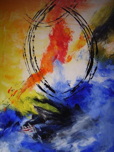 Acryl-Power, Gefangene Wärme, Abstraktes, Fantasie, Abstrakte Kunst, Moderne
