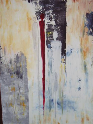 Acryl-Power, Ohne Titel, Abstraktes, Menschen: Gruppe, Abstrakte Kunst, Moderne