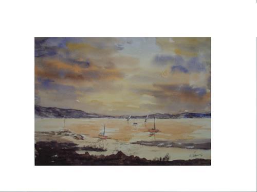 Acryl-Power, Am Meer, Landschaft: See/Meer, Landschaft: See/Meer, Gegenwartskunst