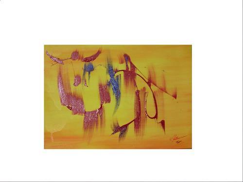 Acryl-Power, Toro, Abstraktes, Fantasie, Moderne