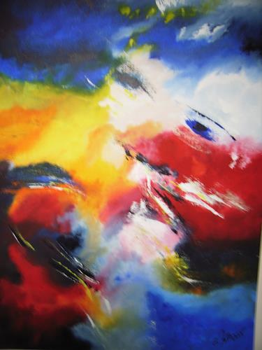 Acryl-Power, Blick zu den Farben, Abstraktes, Fantasie, Gegenwartskunst