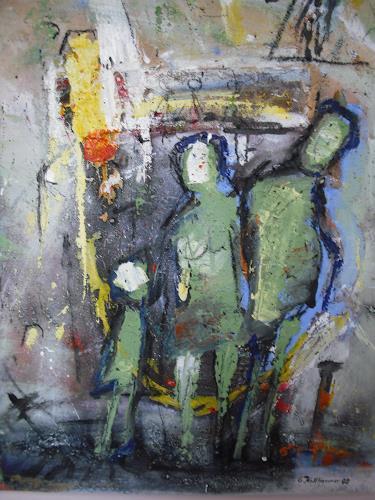 Acryl-Power, Was tun?, Menschen: Familie, Abstraktes, Abstrakter Expressionismus, Expressionismus, Moderne