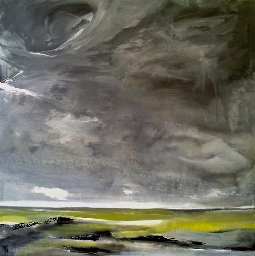 Alexandra von Burg, Spherics, Landschaft: Ebene, Abstrakter Expressionismus