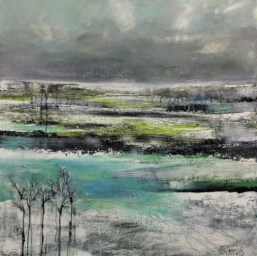 Alexandra von Burg, Snow-white, Abstraktes, Abstrakter Expressionismus