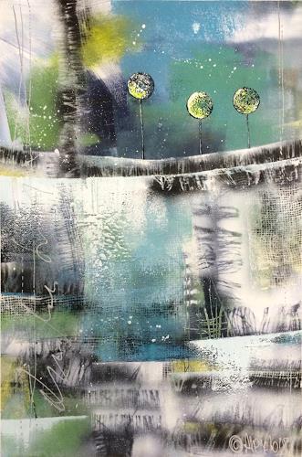Alexandra von Burg, Risveglio, Abstraktes, Expressionismus
