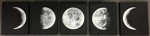 Alexandra von Burg, Fase Lunare, Natur: Diverse, Abstrakte Kunst
