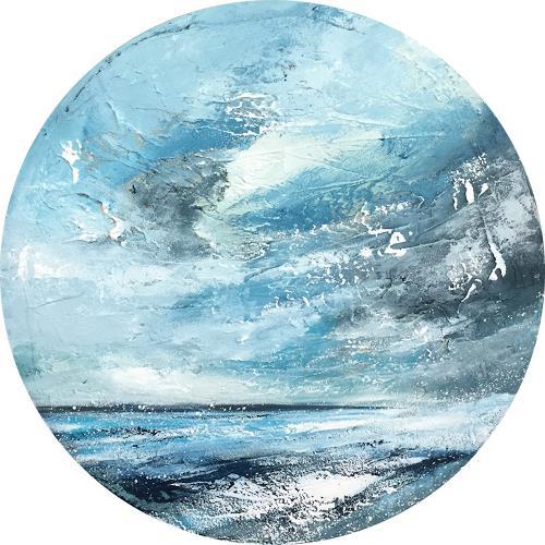 Alexandra von Burg, Vista da un oblo I, Landschaft: See/Meer, Abstrakte Kunst