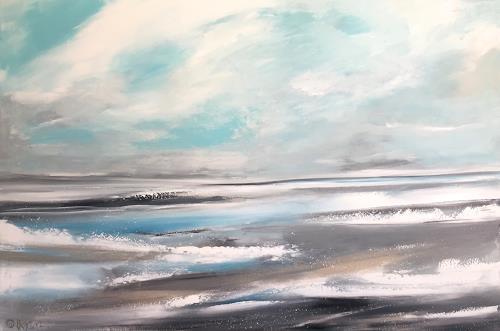 Alexandra von Burg, Ispirazione nordica, Landschaft: See/Meer, Abstrakte Kunst, Expressionismus