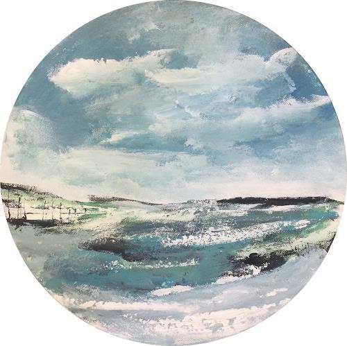 Alexandra von Burg, Tra le nuvole, Landschaft: Ebene, Abstrakte Kunst