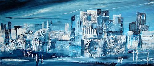 Alexandra von Burg, Carezza glaciale, Abstraktes, Abstrakte Kunst