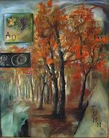 Riwi-Landschaft-Herbst-Natur-Wald-Moderne-Impressionismus