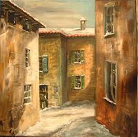 Riwi-Wohnen-Dorf-Landschaft-Winter-Neuzeit-Realismus