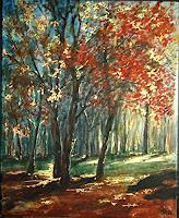 Riwi-Natur-Wald-Zeiten-Herbst-Moderne-Impressionismus