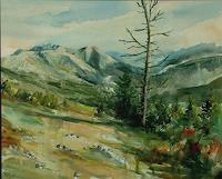 Riwi-Landschaft-Berge-Zeiten-Sommer-Moderne-Konkrete-Kunst